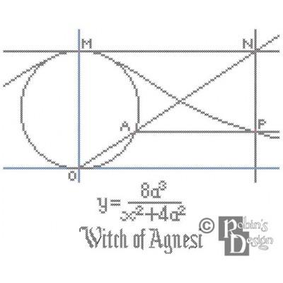 Witch of Agnesi Cross Stitch Pattern PDF Download