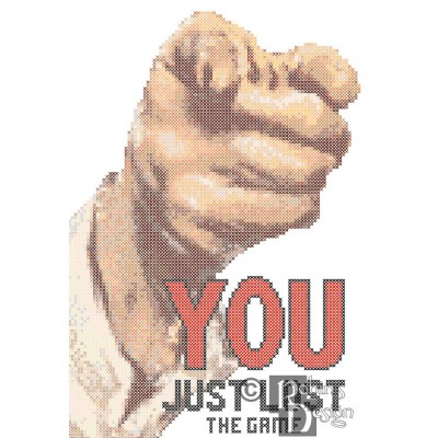 You Just Lost The Game Cross Stitch Pattern PDF Download