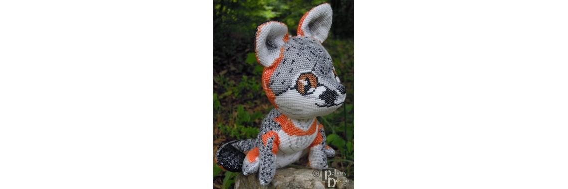 Gray Fox Cross Stitch Doll Pattern