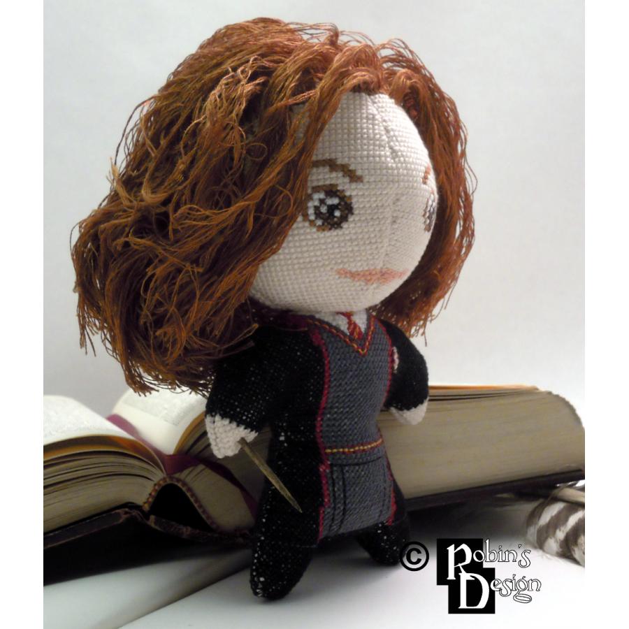 Hermione Granger Doll 3D Cross Stitch Sewing Pattern PDF Download