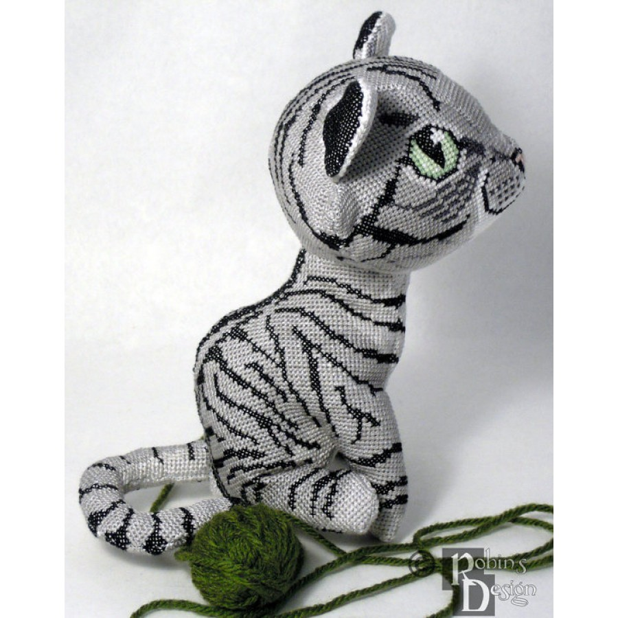 Custom Cat Doll 3D Cross Stitch Animal Sewing Pattern from Your Photos PDF