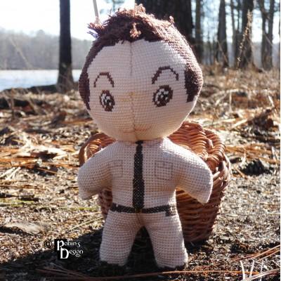 Deputy Barney Fife Doll 3D Cross Stitch Sewing Pattern PDF Download