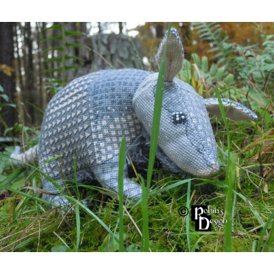 Tatu the Nine Banded Armadillo Doll 3D Cross Stitch Animal Sewing Pattern PDF Download