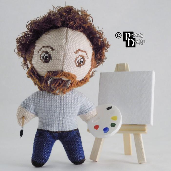 Bob Ross Doll 3D Cross Stitch Sewing Pattern PDF Download