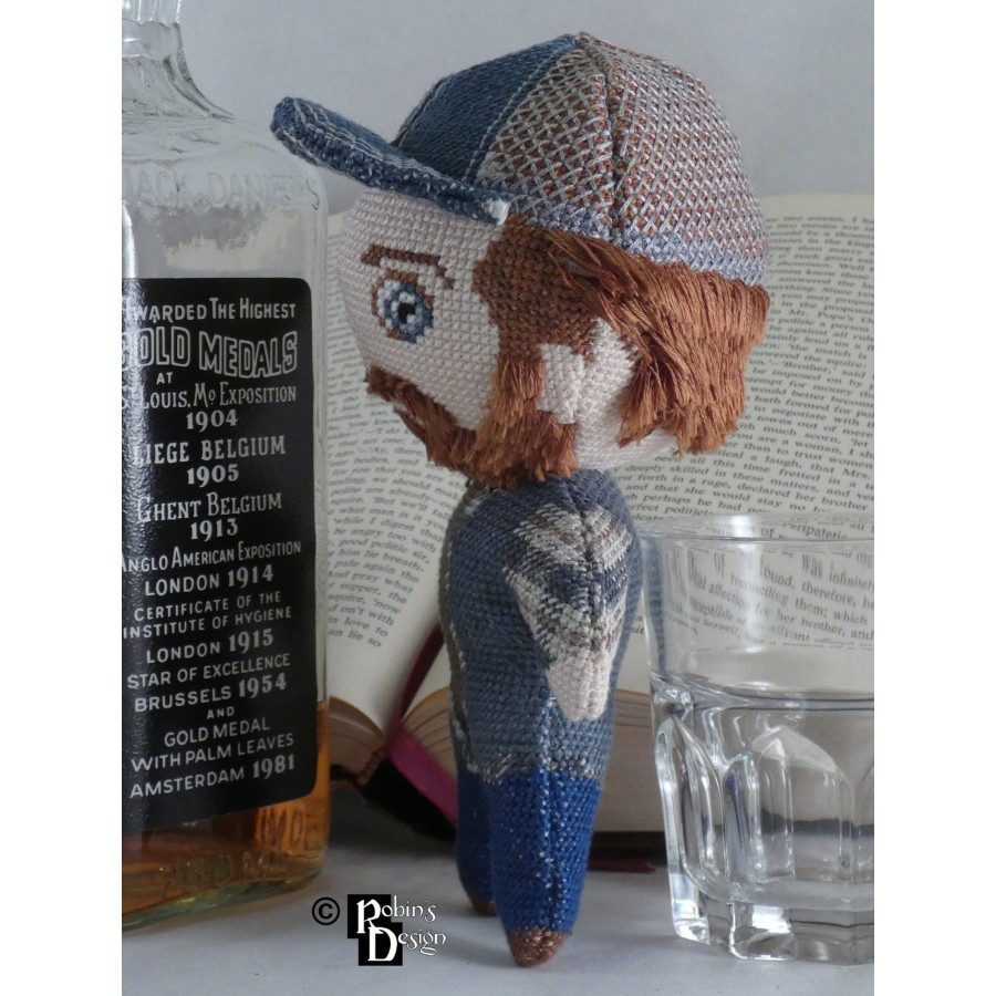 Bobby Singer Doll 3D Cross Stitch Sewing Pattern PDF Download