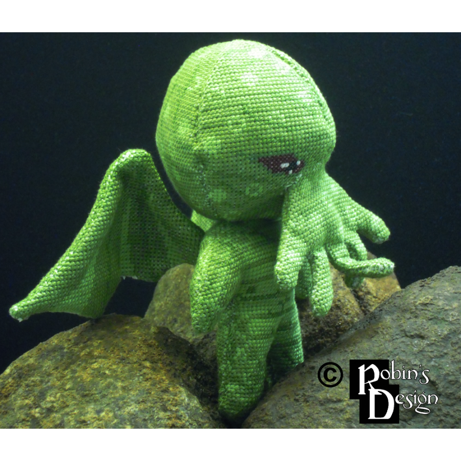 Cthulhu Doll 3D Cross Stitch Sewing Pattern PDF Download