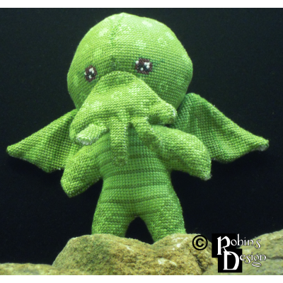 Cute Cthulhu Doll 3D Cross Stitch Sewing Pattern PDF Download