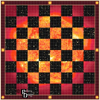 Day and Night Chessboard Cross Stitch Pattern PDF Download