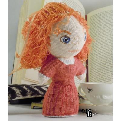 Demelza Poldark Doll 3D Cross Stitch Sewing Pattern PDF Download