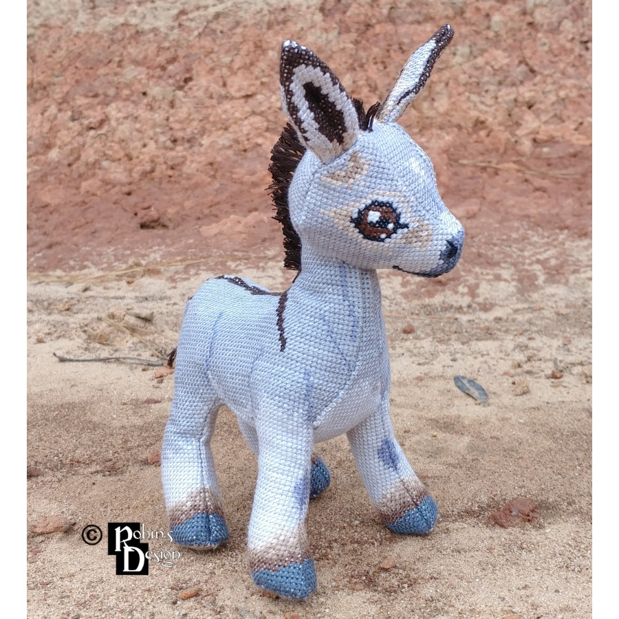 Omi the Donkey Doll 3D Cross Stitch Animal Sewing Pattern PDF Download
