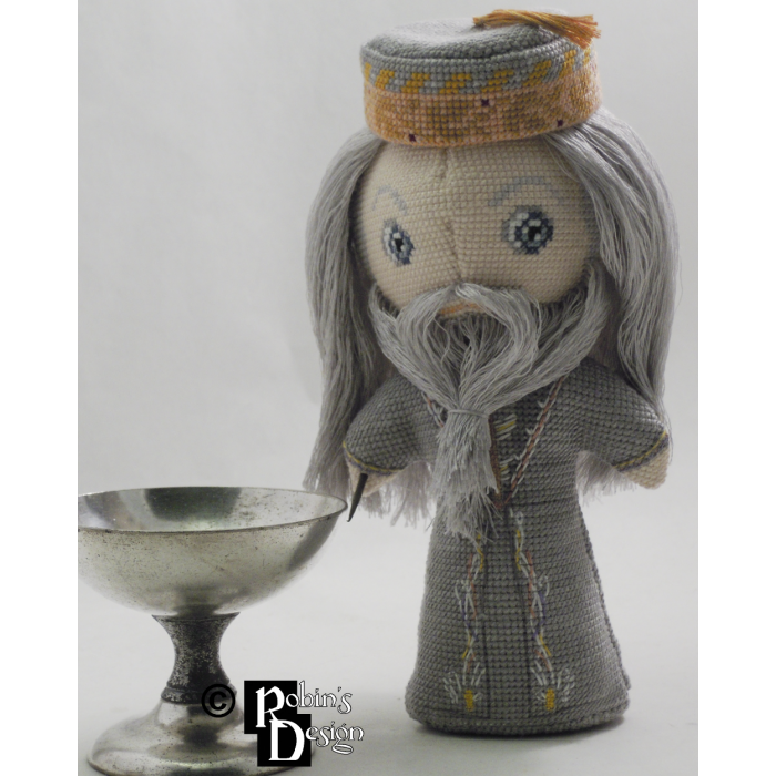 Albus Dumbledore Doll 3D Cross Stitch Sewing Pattern PDF Download