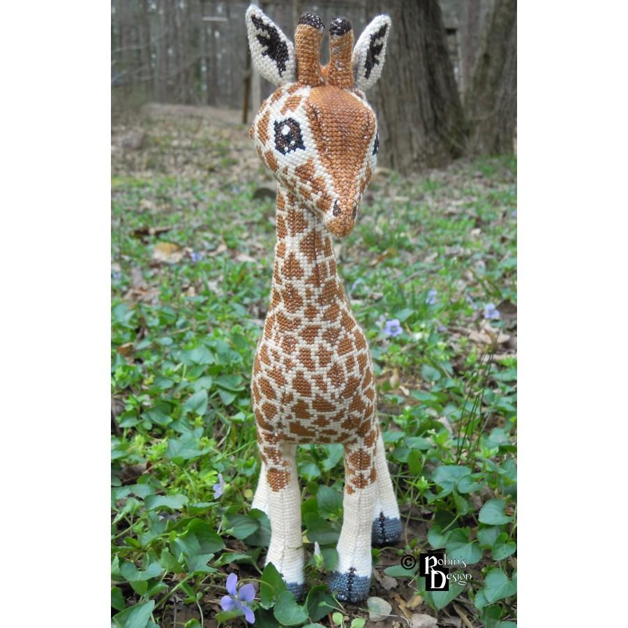 Barney the Giraffe Doll 3D Cross Stitch Animal Sewing Pattern PDF Download