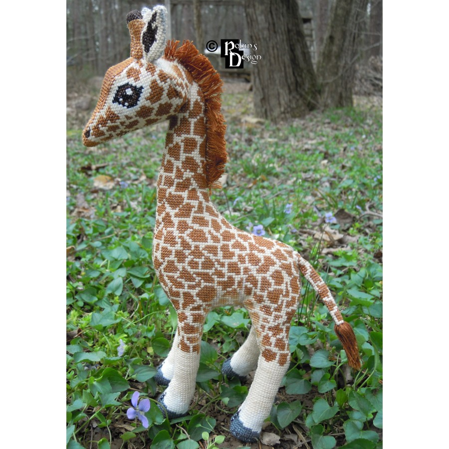 Barney the Giraffe Doll 3D Cross Stitch Animal Sewing Pattern PDF Download