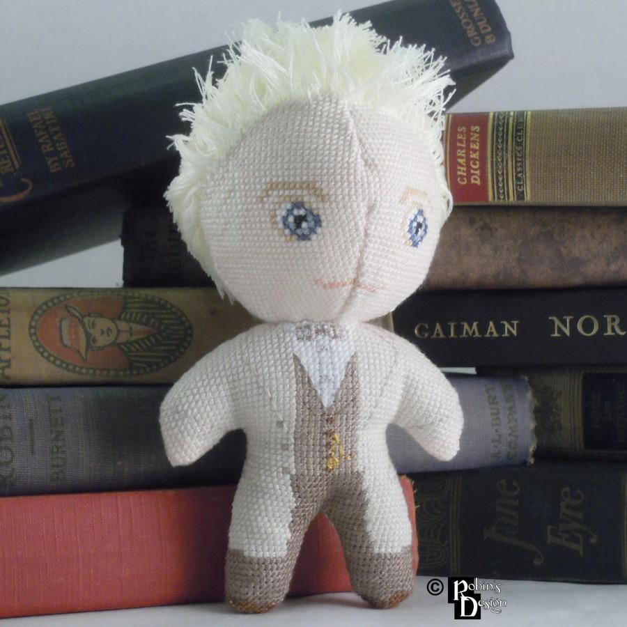 Aziraphale Doll 3D Cross Stitch Sewing Pattern PDF Download