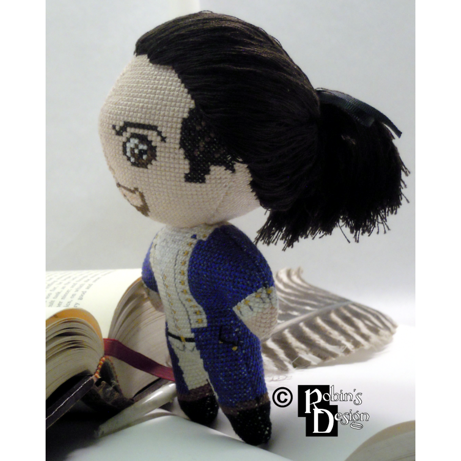 Alexander Hamilton the Musical Version Doll 3D Cross Stitch Sewing Pattern PDF Download
