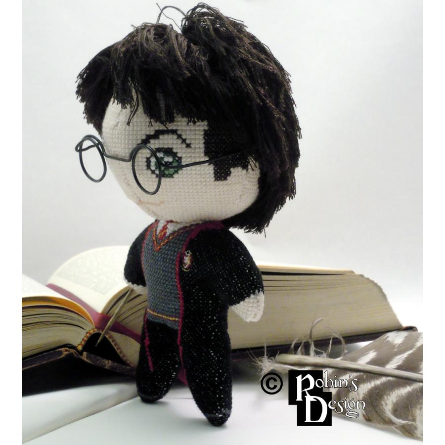 Harry Potter Doll 3D Cross Stitch Sewing Pattern PDF Download