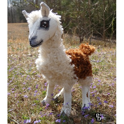 Rama the Llama Doll 3D Cross Stitch Animal Sewing Pattern PDF Download