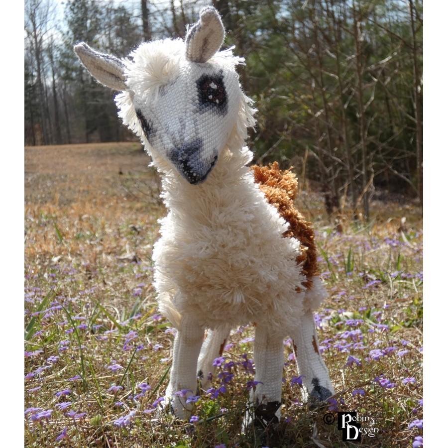 Rama the Llama Doll 3D Cross Stitch Animal Sewing Pattern PDF Download