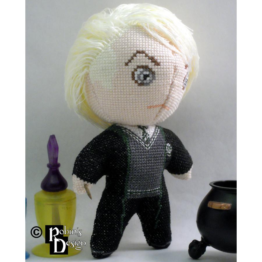 Draco Malfoy Doll 3D Cross Stitch Sewing Pattern PDF Download