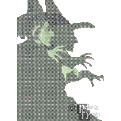 Wicked Witch of the West Cross Stitch Pattern PDF Download
