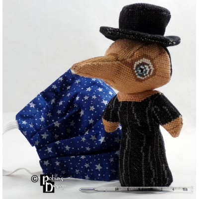Plague Doctor Doll 3D Cross Stitch Sewing Pattern PDF Download