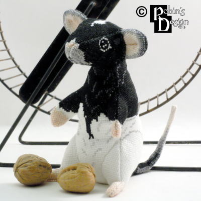 Wink the Hooded Rat Doll 3D Cross Stitch Animal Sewing Pattern PDF Download