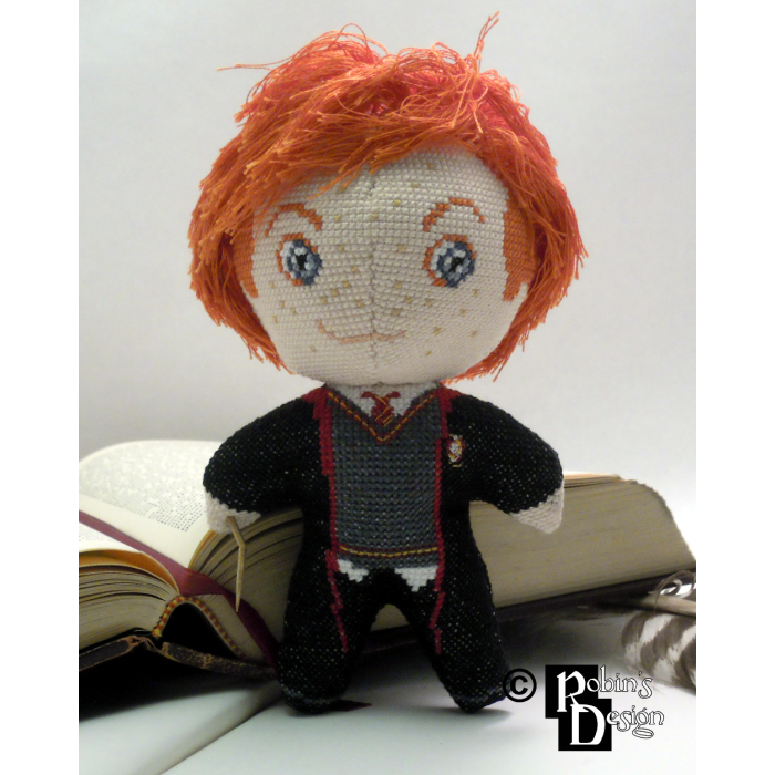 Ron Weasley Doll 3D Cross Stitch Sewing Pattern PDF Download