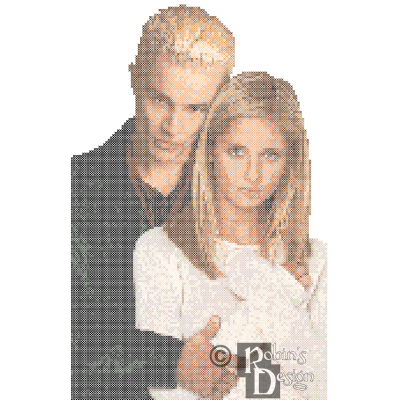 Buffy the Vampire Slayer and Spike Cross Stitch Pattern PDF Download