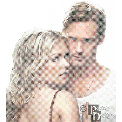 Sookie Stackhouse and Eric Northman Cross Stitch Pattern PDF Download