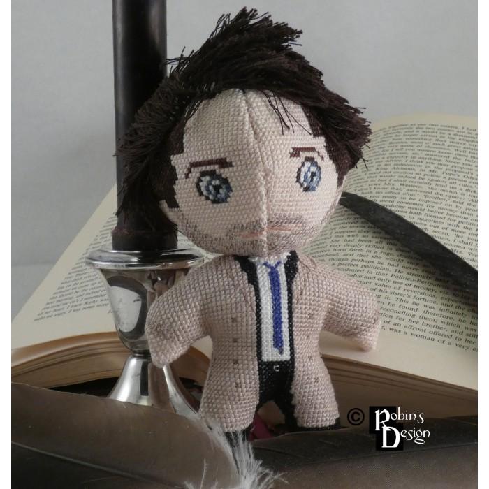 Castiel Doll 3D Cross Stitch Sewing Pattern PDF Download