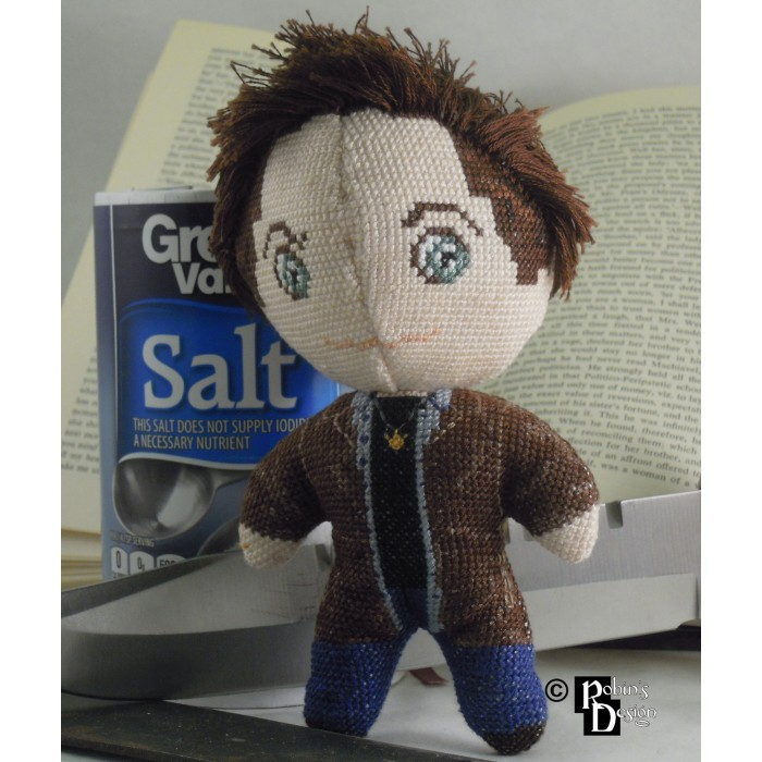 Dean Winchester Doll 3D Cross Stitch Sewing Pattern PDF Download