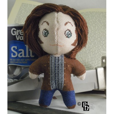 Sam Winchester Doll 3D Cross Stitch Sewing Pattern PDF Download