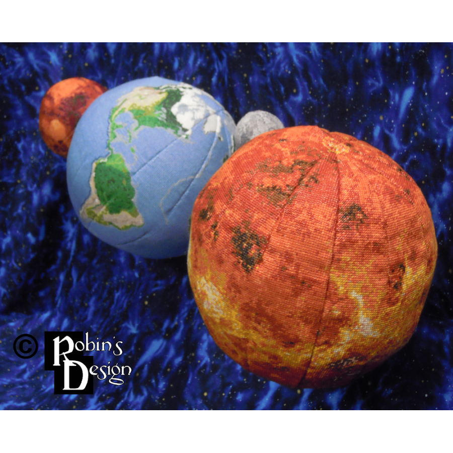 Venus Globe 3D Cross Stitch Sewing Pattern PDF Download