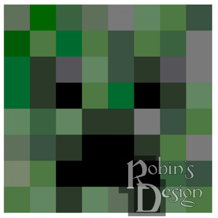 Minecraft Creeper Cross Stitch Pattern for Shirt Patch Set of Four PDF Download
