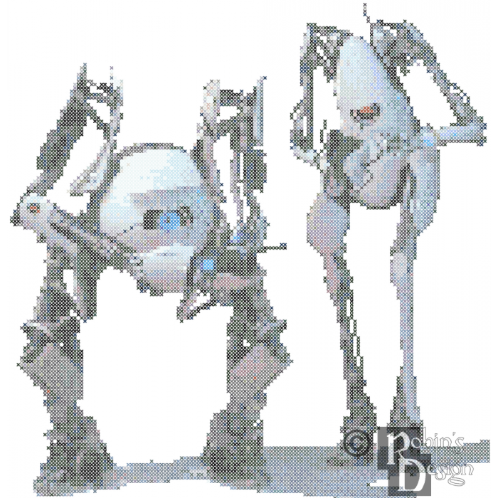 Atlas and P-Body Cross Stitch Pattern PDF Download