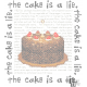 Portal Cake The Cake is a Lie Cross Stitch Pattern PDF Download