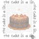 Portal Cake The Cake is a Lie Cross Stitch Pattern PDF Download