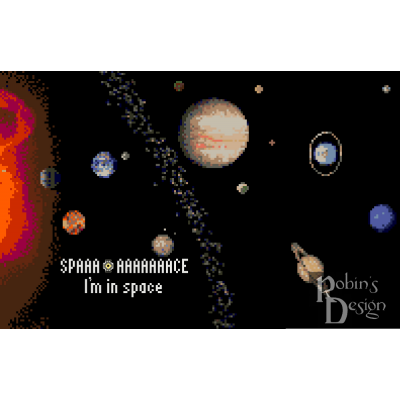 The Space Core in Space Counted Cross Stitch Pattern PDF Download